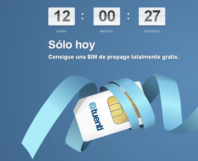 SIM gratis Tuenti móvil