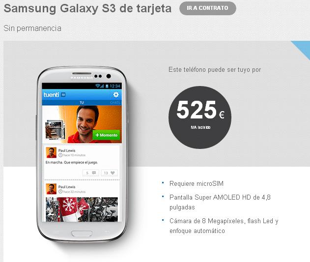 Samsung Galaxy S 3 Tuenti móvil enero