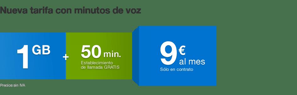 Tuenti móvil 1 GB con 50 minutos gratis