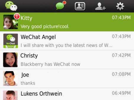 WeChat para BlackBerry