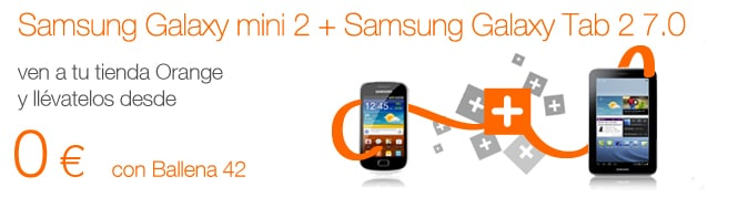 Oferta smartphone + tablet Orange