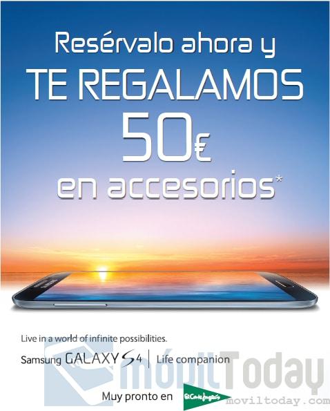 Cheque regalo Samsung Galaxy S4 en El Corte Inglés