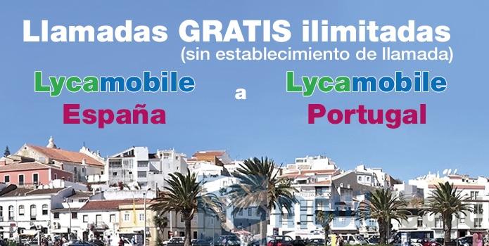 Llamadas gratis ilimitadas a LycaMobile Portugal