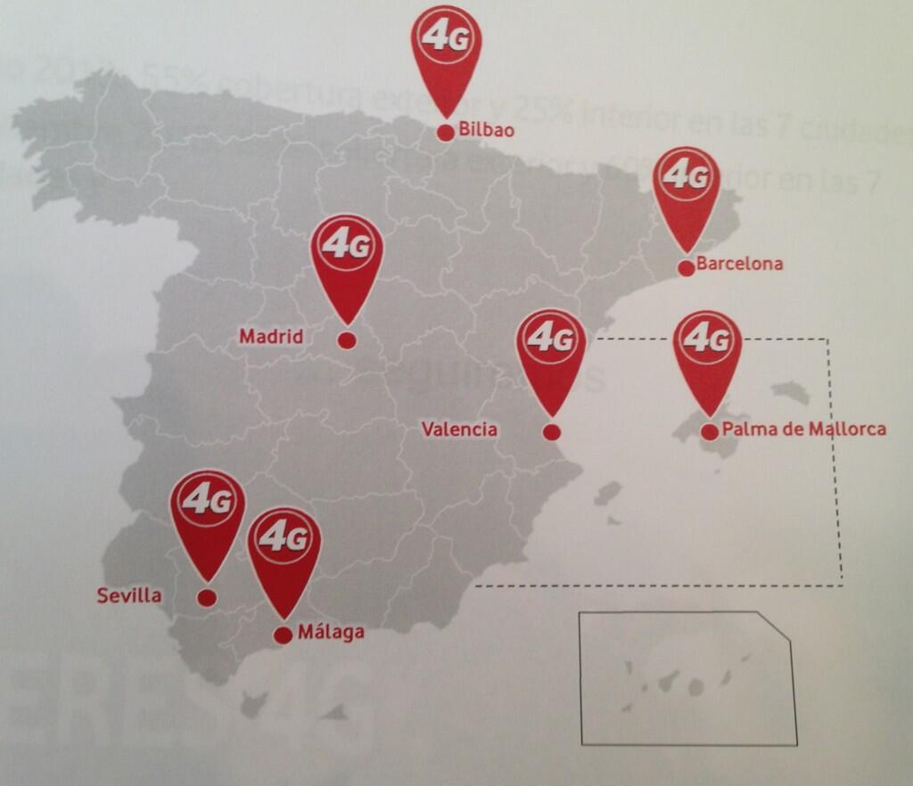 Cobertura 4G Vodafone