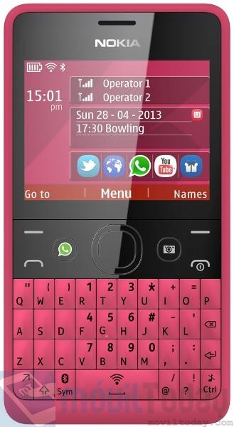 Nokia Asha 210 con WhatsApp
