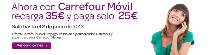 Promoción recarga Carrefour móvil