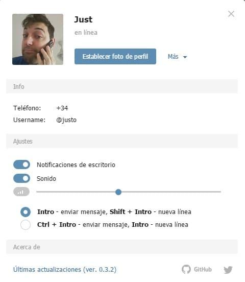elegir nombre de usuario en Telegram