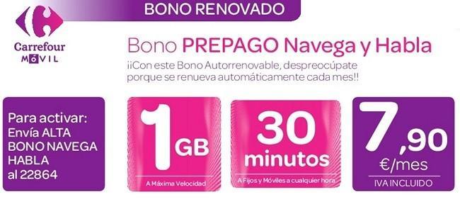 Carrefour móvil bono prepago