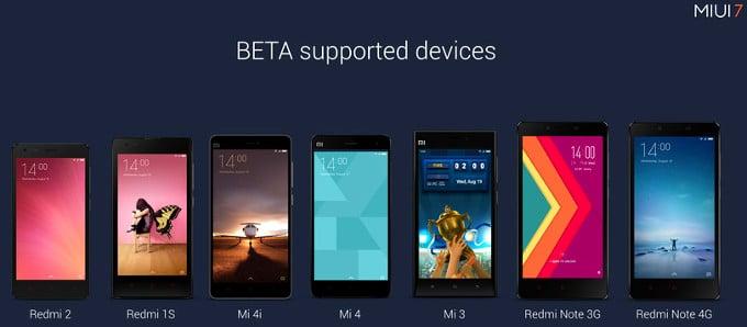 MIUI 7 móviles compatibles