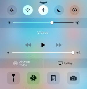 Centro de control iOS 9