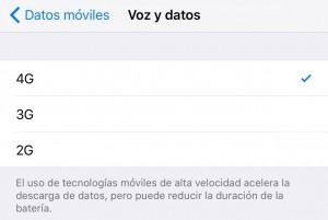 Redes iOS 9 Ahorro Batería