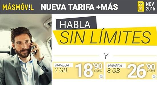 Tarifa +MÁS de MÁSMÓVIL
