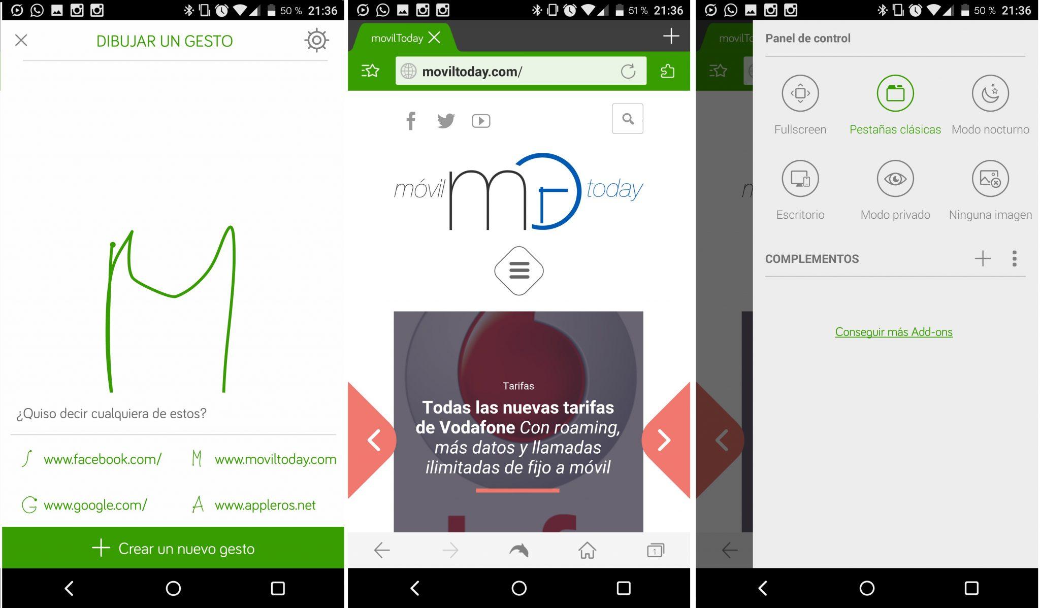 Los mejores navegadores de Android (Dolphin)