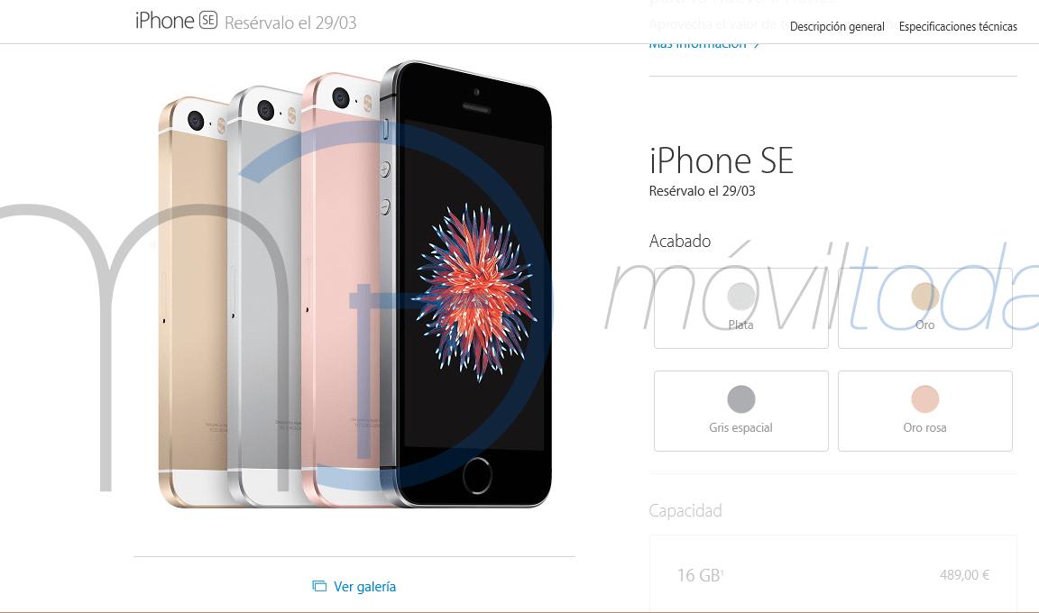 Precios iPhone SE