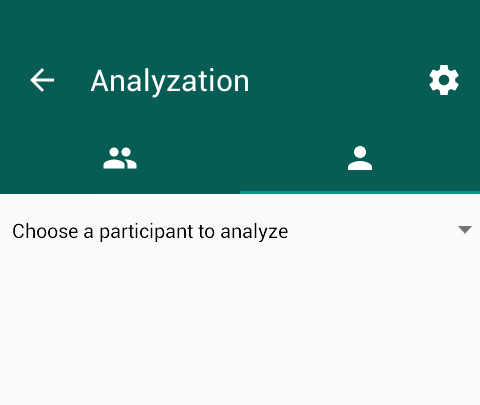 Choose a participant - Analyzer Whatsapp