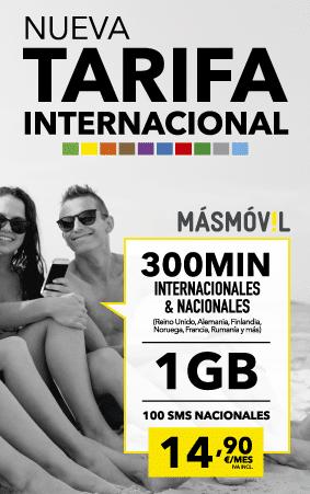 Tarifa Internacional MÁSMÓVIL