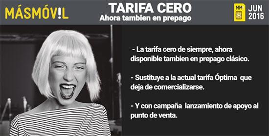 Tarifa Cero MÁSMÓVIL