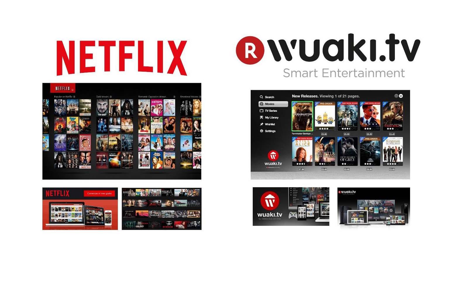 Netflix o Wuaki TV