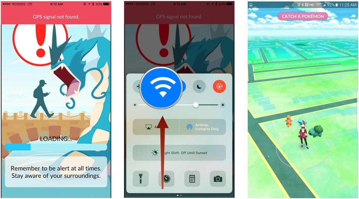 Pokémon GO GPS Fallo