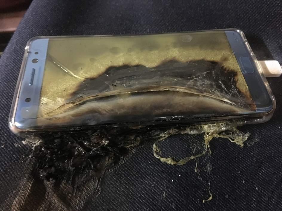 Samsung Galaxy Note 7 explota