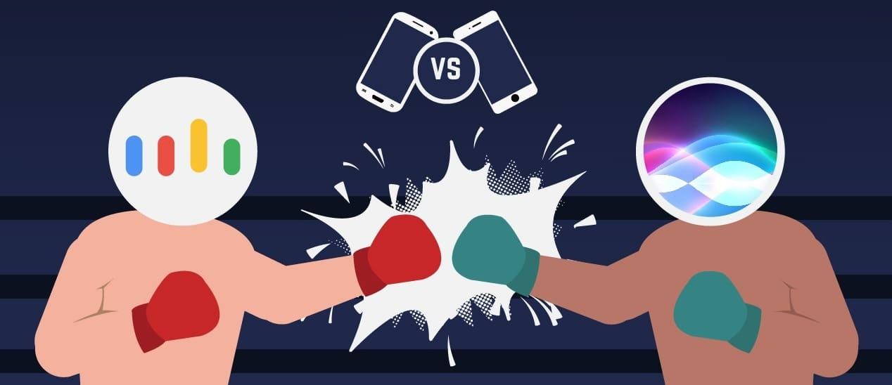 Batalla entre Siri y Google Assistant