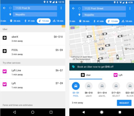 Google Mpas Uber