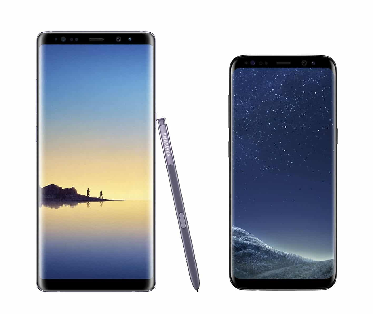 Samsung Galaxy S8 y Samsung Galaxy Note 8