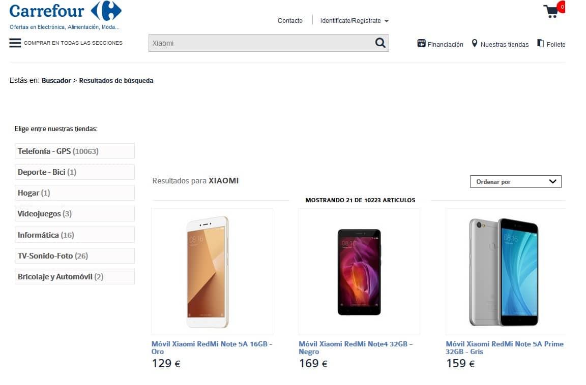 Xiaomi España Carrefour