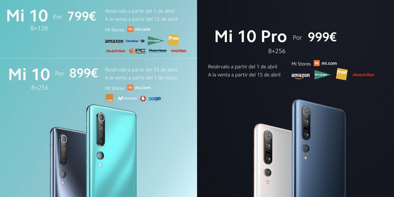 Xiaomi Mi 10 Precios