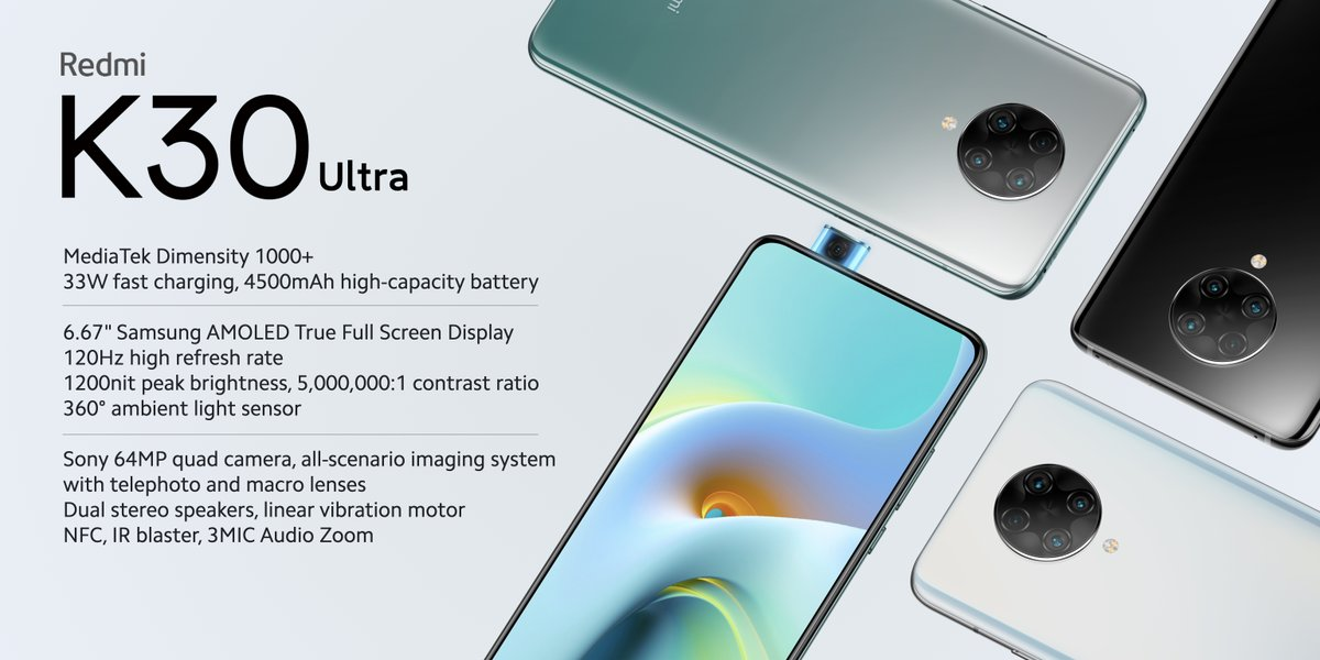 Redmi K30 Ultra hoja de especificaciones